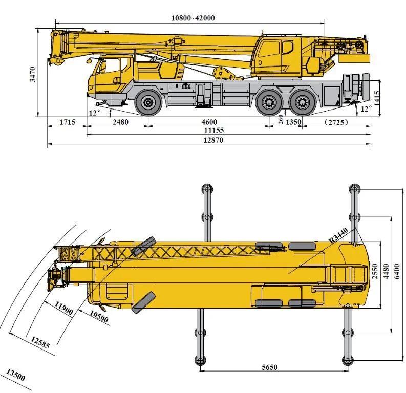 Габаритные характеристики крана 25 тонн XCMG QY25K5